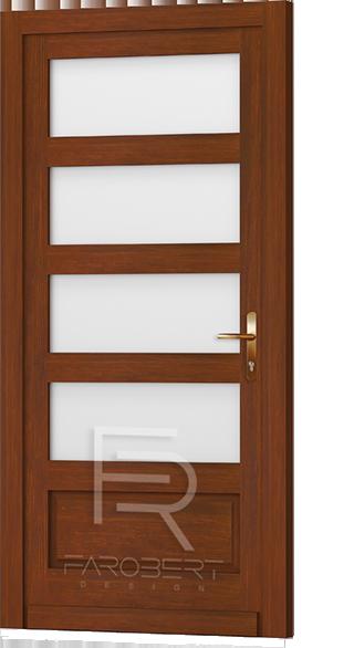 Tömörfa bejárati ajtó
